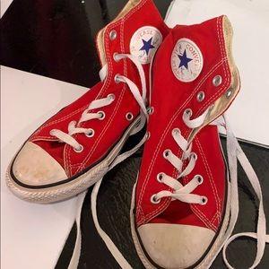Converse Red Hi Tops